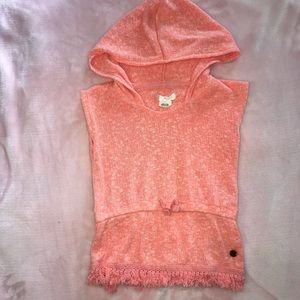 3 Roxy Girl Coral Hooded Sleeveless Knit Tunic